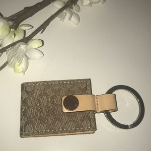 COACH SIGNATURE 'C' PICTURE FRAME KEY RING